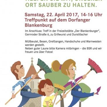 Frühjahrs-Dorf-Putz in Blankenburg am 22.04.2017