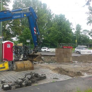 Die Bauarbeiten haben begonnen – Ampelanlage an der Rennbahnstraße kommt