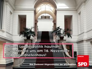 Besuchen Sie Ihre SPD-Abgeordneten aus Pankow im Abgeordnetenhaus