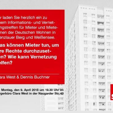 Treffen für Mieter und Mieterinnen der Deutschen Wohnen am 7. Mai
