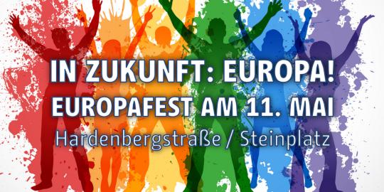 Europafest der Berliner Landeszentrale für politische Bildung am 11. Mai