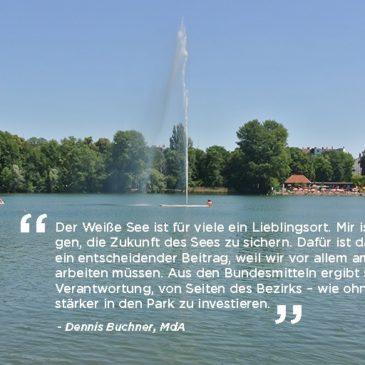 """1,98 Millionen Euro vom Bund für den Weißen See aus dem Pilotprogramm """"Klimaanpassung unserer Städte"""""""