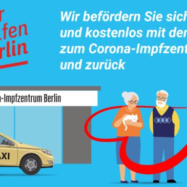 Mit dem Taxi zum Impfen – kostenlos!