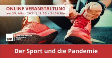 """Diskussionsveranstaltung: """"Der Sport und die Pandemie"""""""