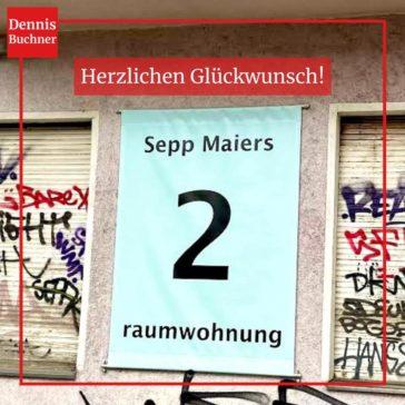 Herzlichen Glückwunsch: Sepp Maiers 2raumwohnung